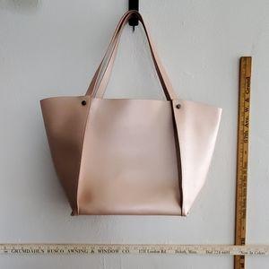 Neiman Marcus metallic pink tote